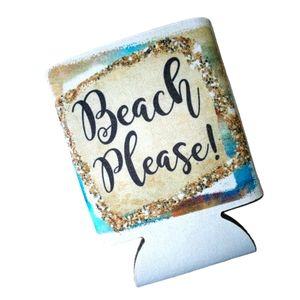 SET OF FIVE Beach Please Koozies